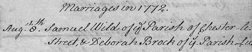 Deborah Brock Lanchester 1772