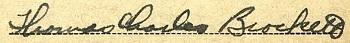 Thomas C Brockett WWII draft card signature