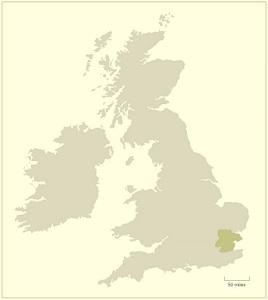 UK Essex map
