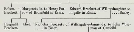 Visitation of Essex 1558 Robert and Edward Brockett